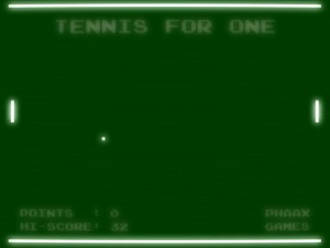 Tennis for one screenshot